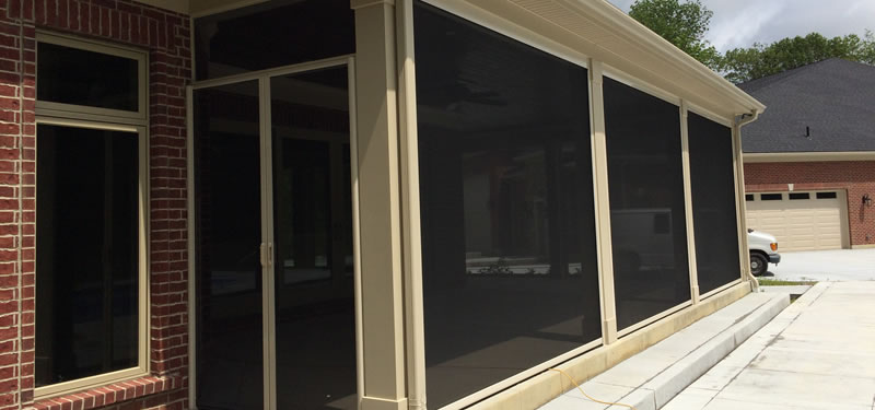Ohio retractable screens for porch shade